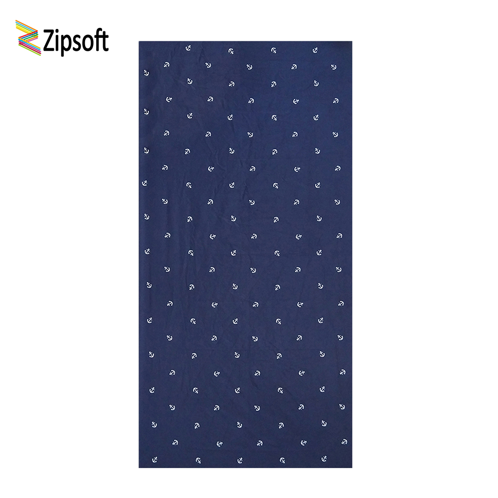 Zipsoft Brand Beach towel 2017 Large Microfiber Anchor Towel for Adults Swimming Pool Gym Travel Hiking