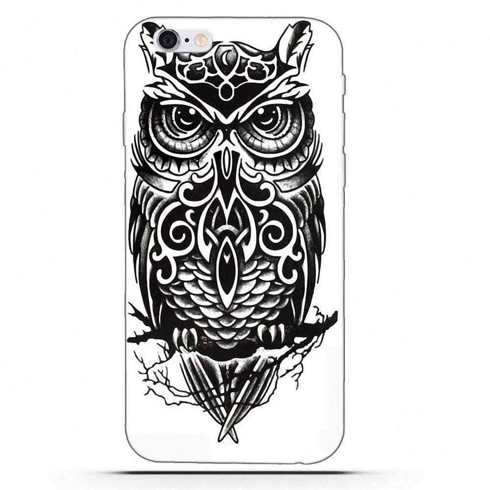 Czarny biały sowa Totem dla Huawei G7 Y6 II Y7 dla Xiao mi czerwony mi uwaga 2 3 5 mi 3 4 4C 4I 5S 5X6X8 SE Pro wzór etui na telefon