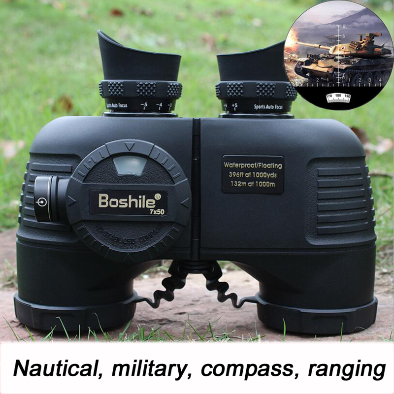 Boshile Powerful Military Binoculars Waterproof Nitrogen High quality 7X50 Rangefinder Binocular hd Big Azimuth Compass 4