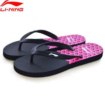 (Break Code)Li-Ning Women Beach & Outdoor Sandals Breathable Print Slipper LiNing li ning Comfort Sport Shoes ALSN008 XWT1454
