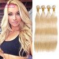 8а Класс Virgin Необработанные Человеческих Волос Блондинка Бразильские Волосы 4 Пучки Прямо Переплетения 100% Человеческих Волос Ткачество Дешевые Weave Онлайн