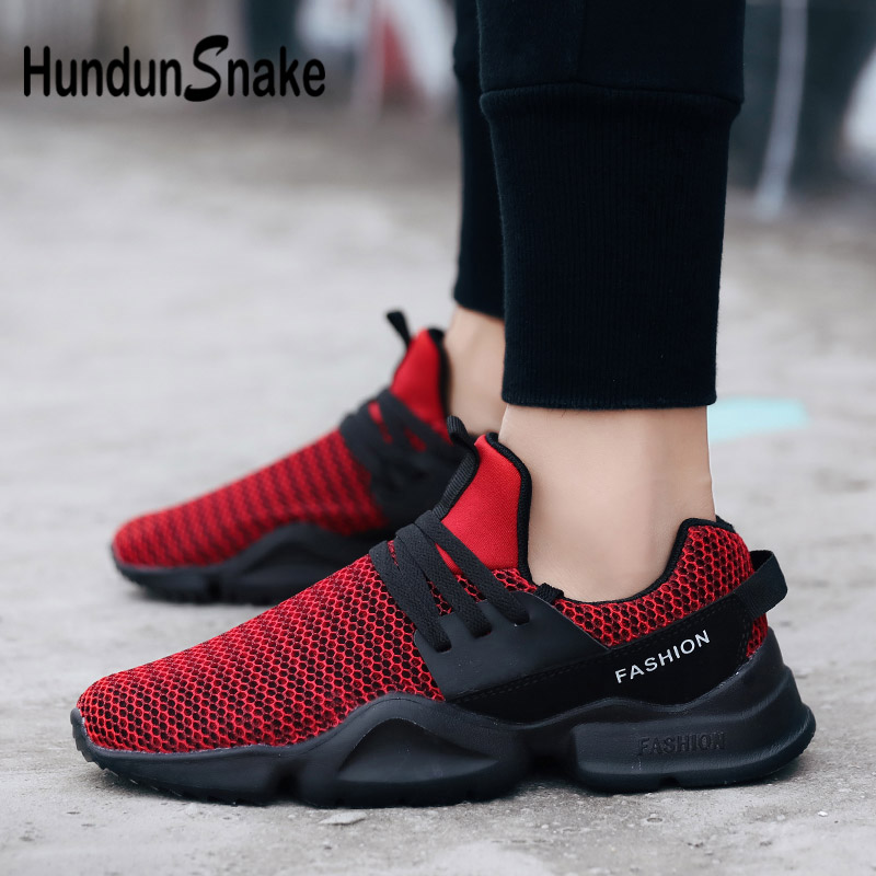 Amiable Hundunsnake Summer Jogging Shoes Men Red Sneakers Men Running Shoes Mens Sport Shoes Male Chaussure Homme Basket Wholesale G-13 Goods Of Every Description Are Available Running Shoes