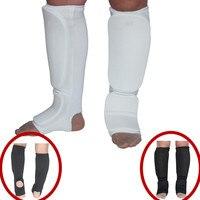 Dobra jakość podbiciu shin protector kick karate boks MMA grappling Karate foot pads ochraniacze goleni strażnik biegów nogi cholewka dzieci dorosłych