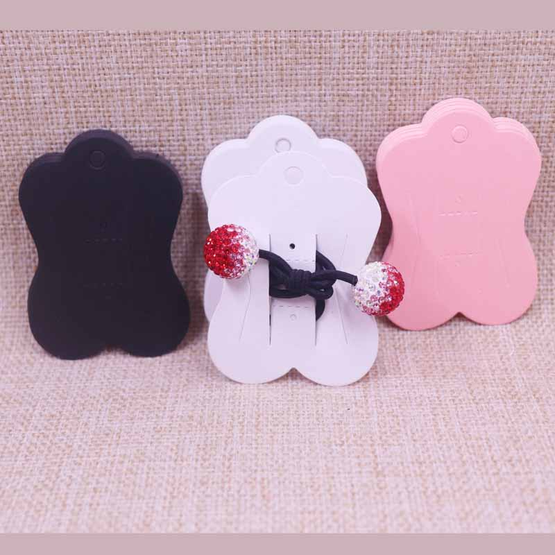 10 20 Floral Hair Clip Card Paper Jewelry Display Cards Blank Packaging Card