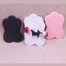 2019  New DIY5.1*7.1cm white /piink/black hair claw/Hair Clip Card packing card paper clip display Earring