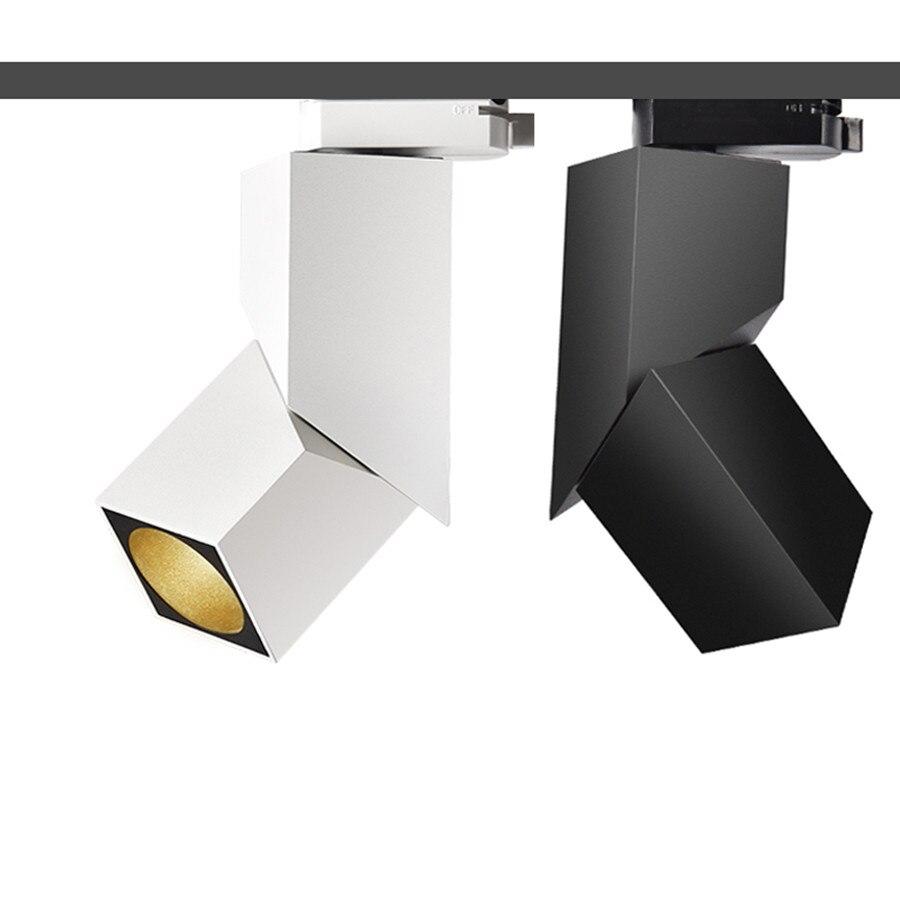 Thrisdar 7W 12W Art Cube CREE LED Track Light Adjustable angle LED Ceiling Rail Spotlight Clothing Shop Windows Track Spotlight