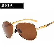 Male Sunglasses Brown Polarized TAC Lenses UVA Anti-Ultra Violet EXIA OPTICAL KD-8088 Series