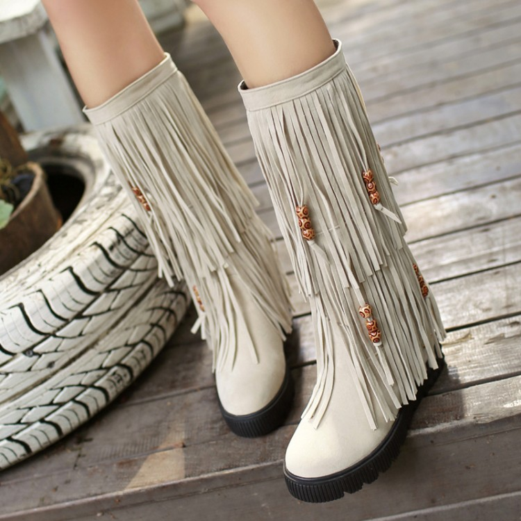 2017 Botas Mujer Big Size 34-44 Brand Design Patch Color Over The Knee Boots Thick Sole Platform Slim Long Winter Autumn 906-2