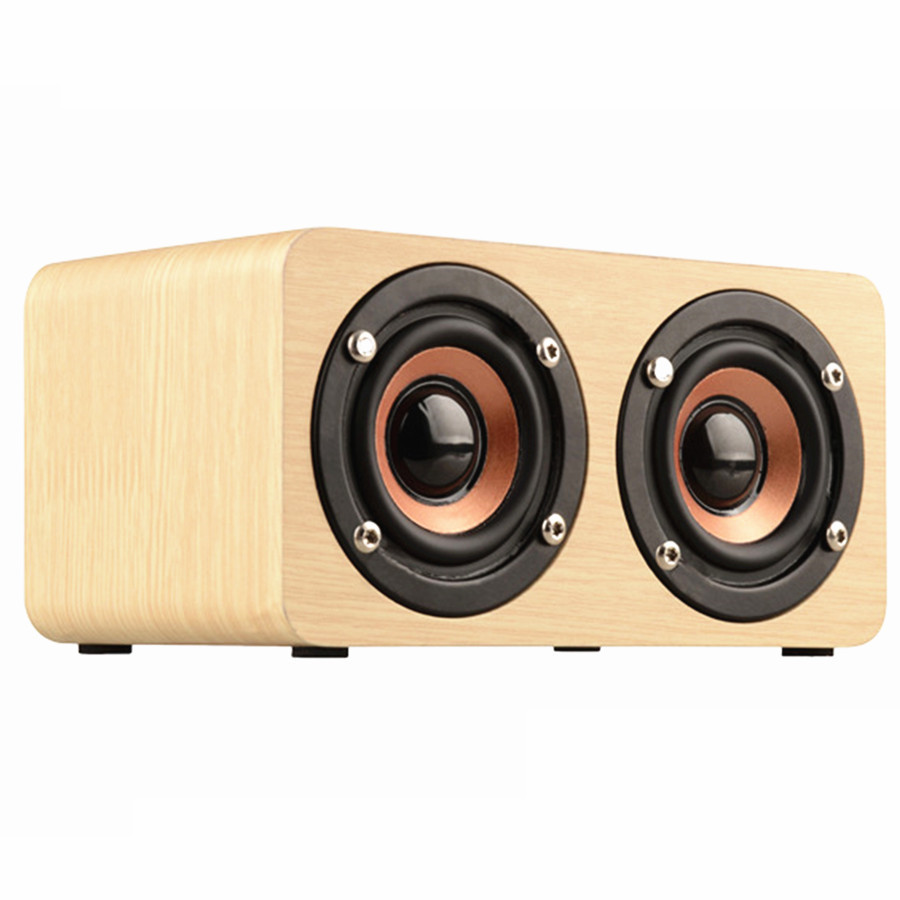 aniwk retro wood wireless bluetooth speaker portable speaker bluetooth altavoz mini 3d dual. Black Bedroom Furniture Sets. Home Design Ideas