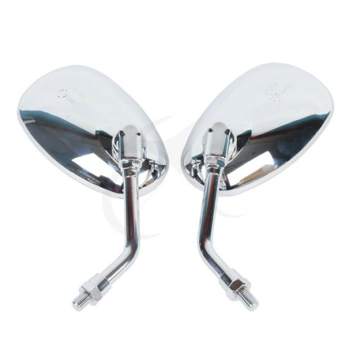 Left Right Chrome Mirrors For Honda Magna Rebel Shadow VT750 VT1100 400 Kawasaki VN 2000 Vulcan VN1600 <font><b>VN1500</b></font> VN900 VN800 VN400 image