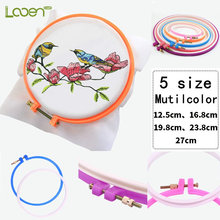 1 PC Adjustable Embroidery Hoop Sewing Tools Plastic Cross Stitch Set Ring Frame For Women Mom Gift