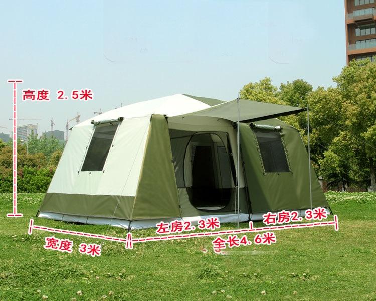 Високо качество 10Persons двоен слой 2 - Къмпинг и туризъм - Снимка 2