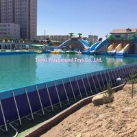 giant collapsible metal frame swimming pool