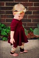 Fashion Street Half Mouwen Meisje Jurk + Hoofdband + Broek Kinderen Pak Vrouwelijke 3 STKS Set ZXH741 #