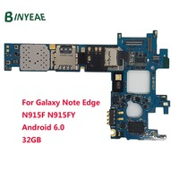 For Samsung Galaxy Note Edge N915FY N915F Unlocked Original Main Motherboard Clean Imei 32GB Testing