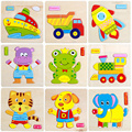 Wooden 3D Puzzle Jigsaw Wooden Toys For Children Cartoon Animal Puzzle Intelligence Kids Educational Toy Toys for Chrismas Gifts