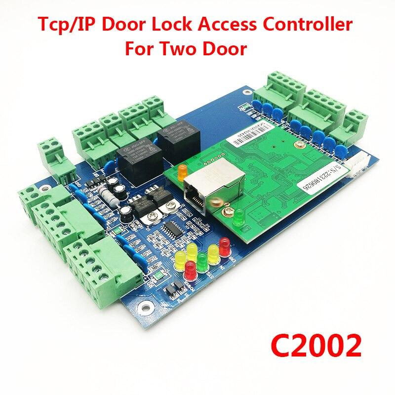 Two door Access Control Panel RFID access control board TCP/IP Double Door Security Access Controller C2002Two door Access Control Panel RFID access control board TCP/IP Double Door Security Access Controller C2002