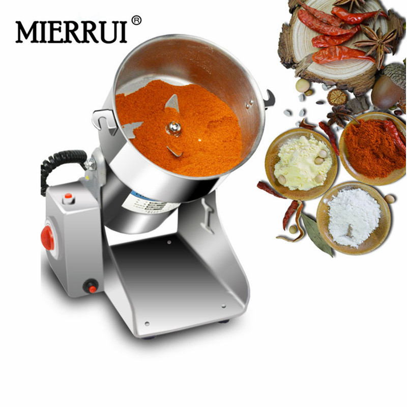 on sale 500g 220V swing type food grade stainless steel electric superfine powder grinder machine salt grinder mill high quality 300g swing type stainless steel electric medicine grinder powder machine ultrafine grinding mill machine