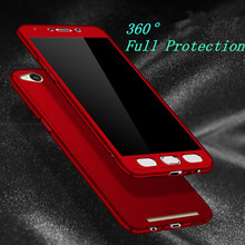 360 Full Protection PC Hard Cases For Xiaomi Redmi 3S cover For xiaomi redmi 3S Prime 3 Pro 3 S prime Matte coque + Glass Film
