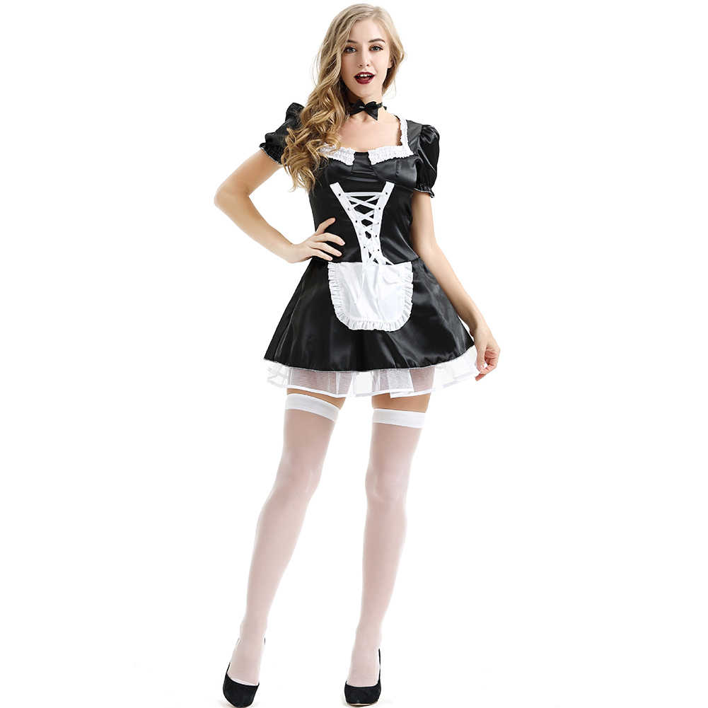a90537bf472 ... Valentine s Day Exotic French Lace Women Dress Sexy Cosplay Costume  Maid Outfit Plus Size Lingerie Uniform ...