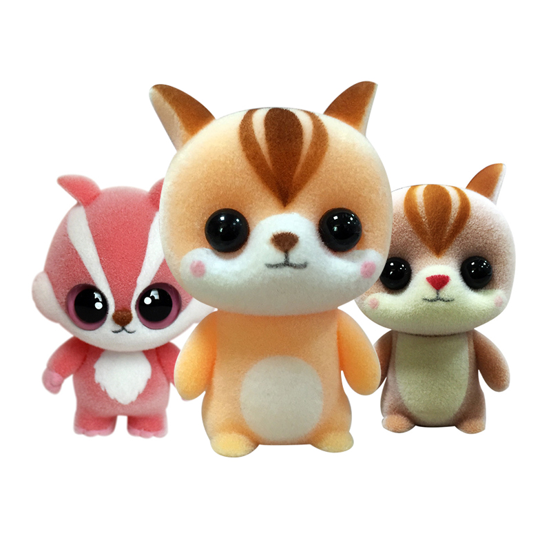 HOT Baby Infant Animal Flocking Toy Super Cute Mini Squirrel Doll Toys Wedding Gift Toy Bouquet Decor Doll Pendant Birthday Gift