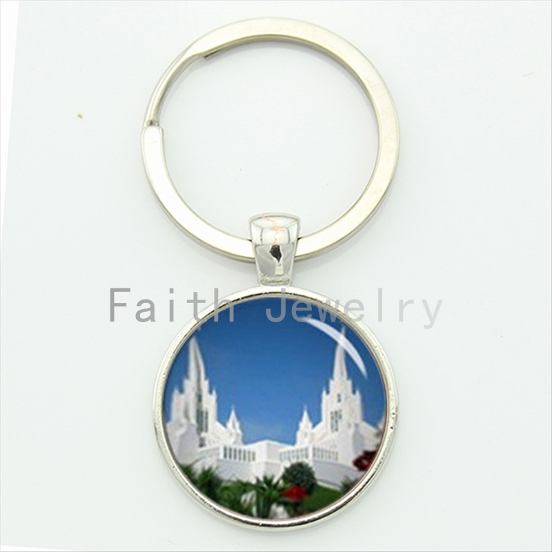 For time and all eternity key chain my own temple charm LDS mormons faith jewelry unique design handmade keychain KC396