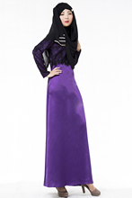 Woman Long Sleeve Abaya Islamic Female Muslim Apparel Ladies Lace Kaftan Long Women's Turkish Maxi Dress