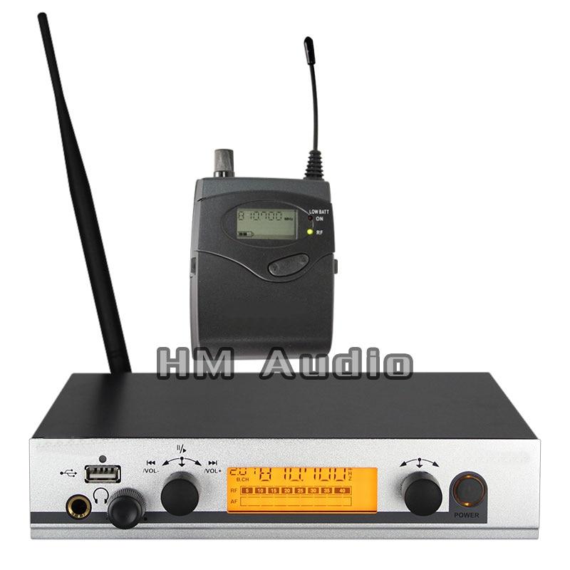 No sistema sem fio ew300 iem do monitor da orelha único transmissor que monitora o profissional para o desempenho da fase