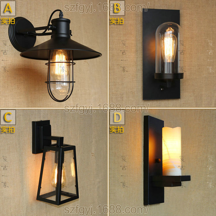 110-220v Retro Vintage Industrial Rural style Wall Light Edison Wall Mount Light Sconces Steel Finished Antique Lamp E27 WWL034 rural style wall lamp vintage wall lamp edison wall light contains edison bulbs free shipping