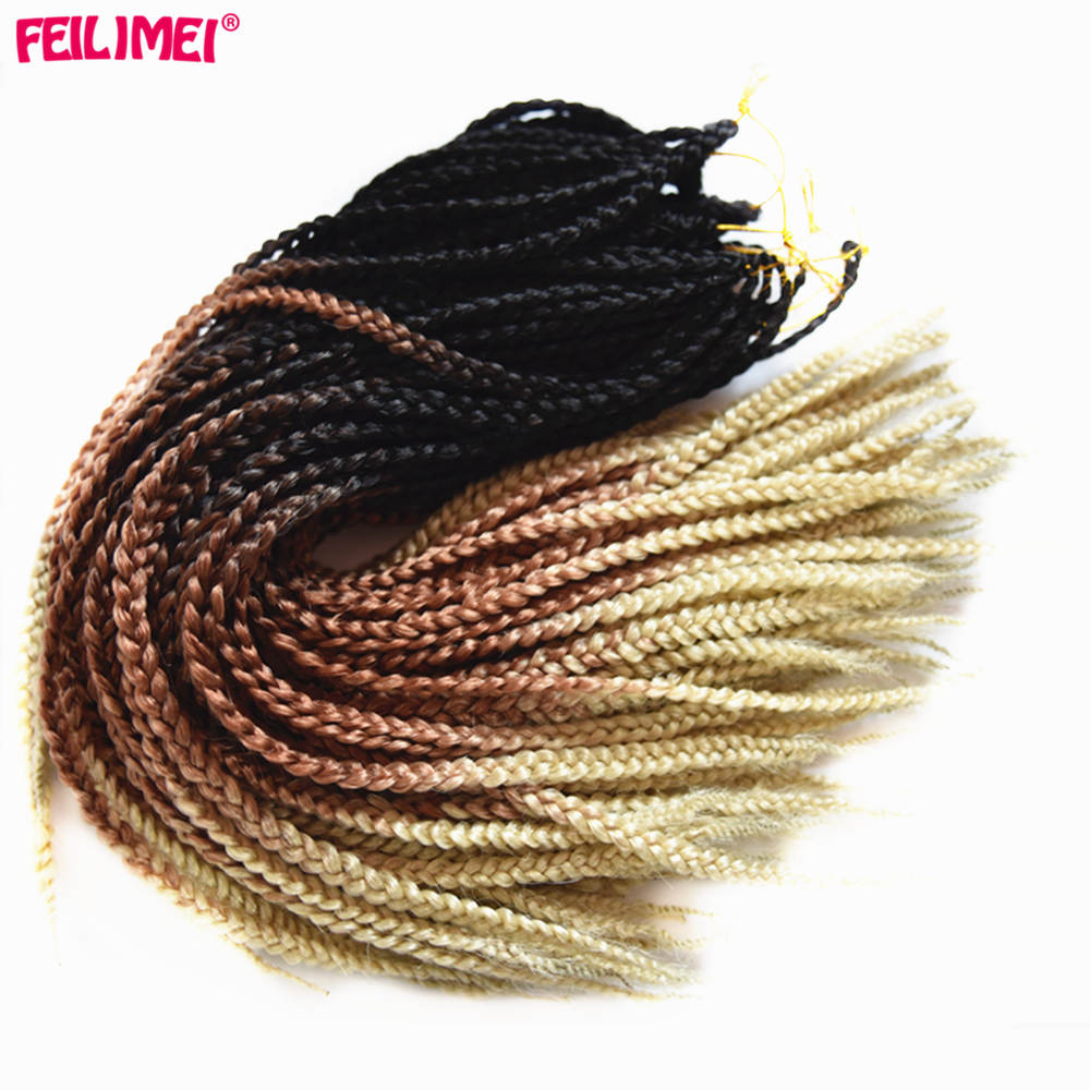 Feilimei Ombre Blonde Freestress Braiding Hair Extensions