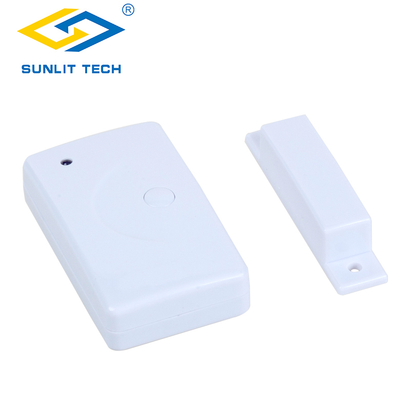 Wireless Door Window Alarm Sensor Magnetic Contact Detector for 433MHz House Security System alarma puerta ventana inalambrica|Sensor & Detector| |  - title=