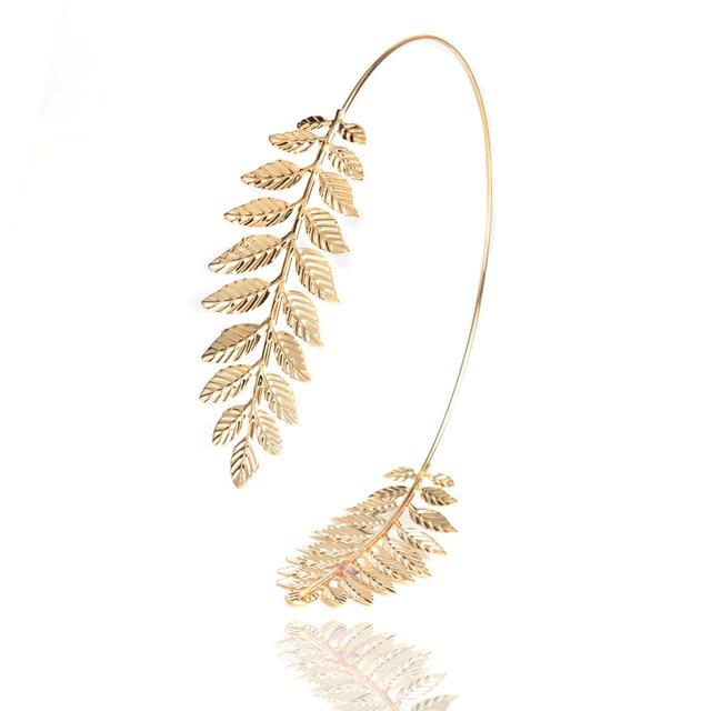 2016 Nueva Moda de Oro Tiara de color Hojas Hairbands Estilo Coreano ...