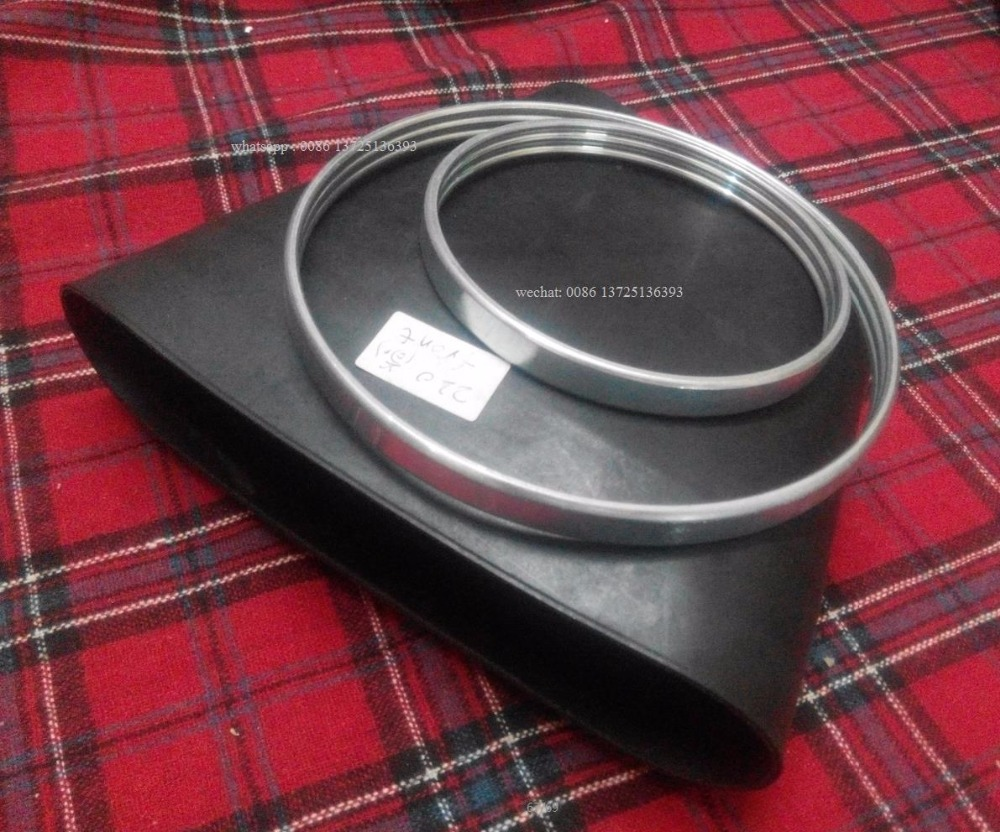 w220 rubber spring sleeve with rings for Mercedes rubber bellows air spring bladder W220 air bag spring sleeve oem A2203202438