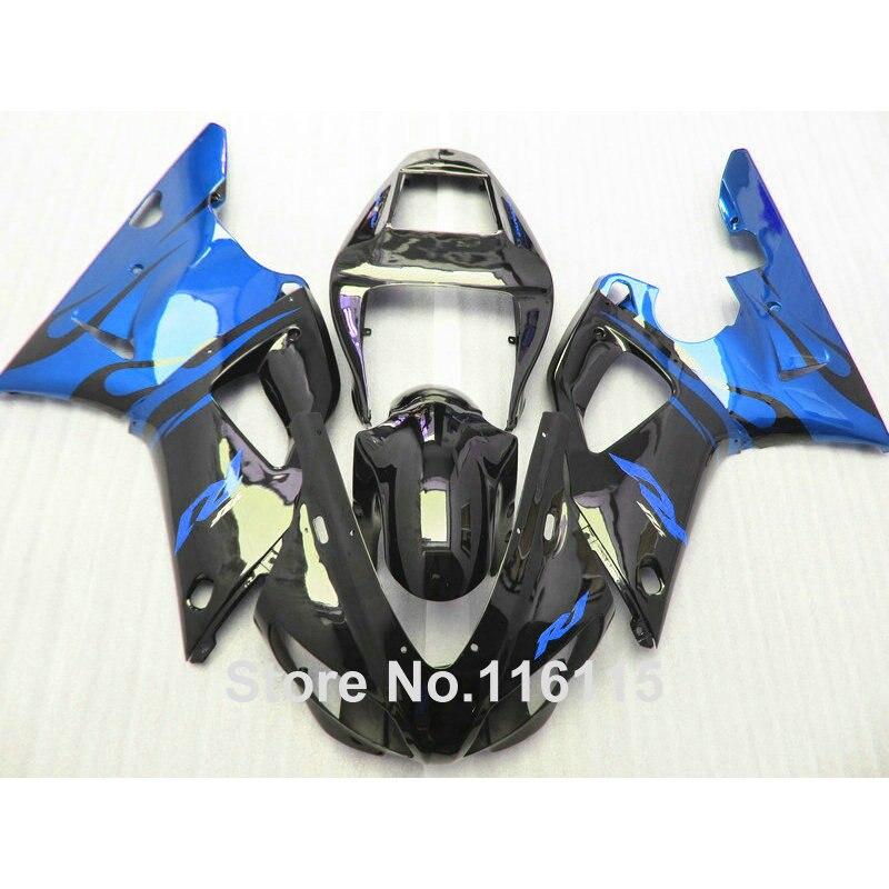 Full injection Fairing kit for YAMAHA R1 1998 1999 model blue black ABS plastic fairings YZF R1 98 99 sets 5026