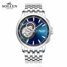 Императивом Элитный бренд часы мужские классические Водонепроницаемый Автоматическая Механическая Мужчины Часы Бизнес полый полный Сталь браслет наручные часы