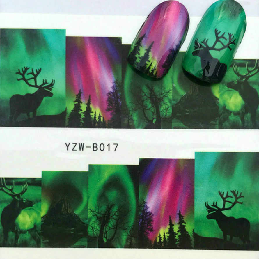 1 Sheel Neon Reindeer Nail Art Nails Gel Nail Polish Gel Polish Set For Manicure Semi Permanent UV Gel Varnish Hybrid
