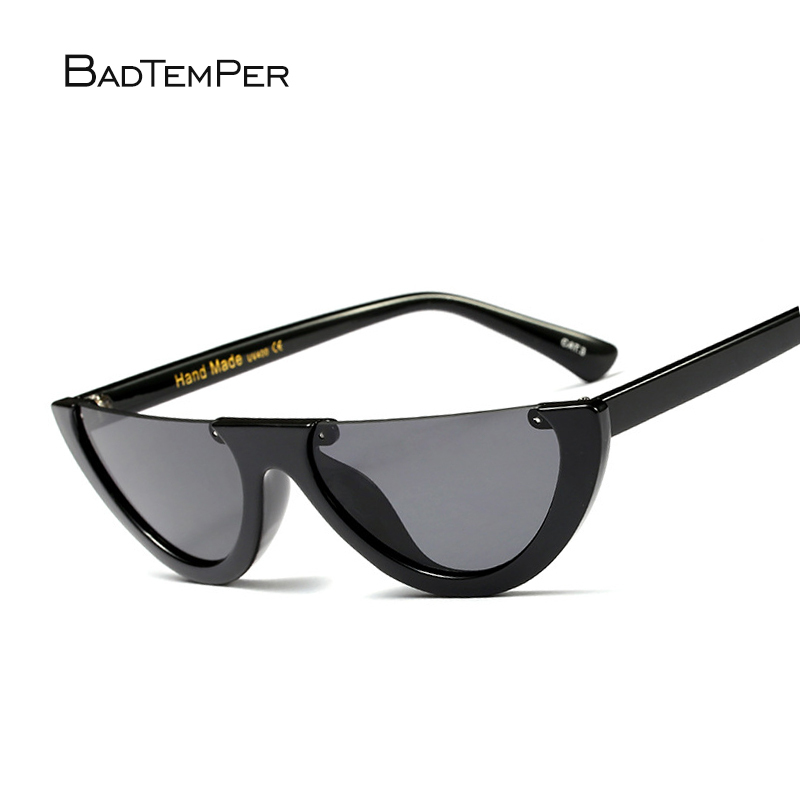 5c4af26ae1 Badtemper Trendy Half Frame Rimless Cat Eye Sunglasses Women Fashion Clear  Brand Designer Sun Glasses For