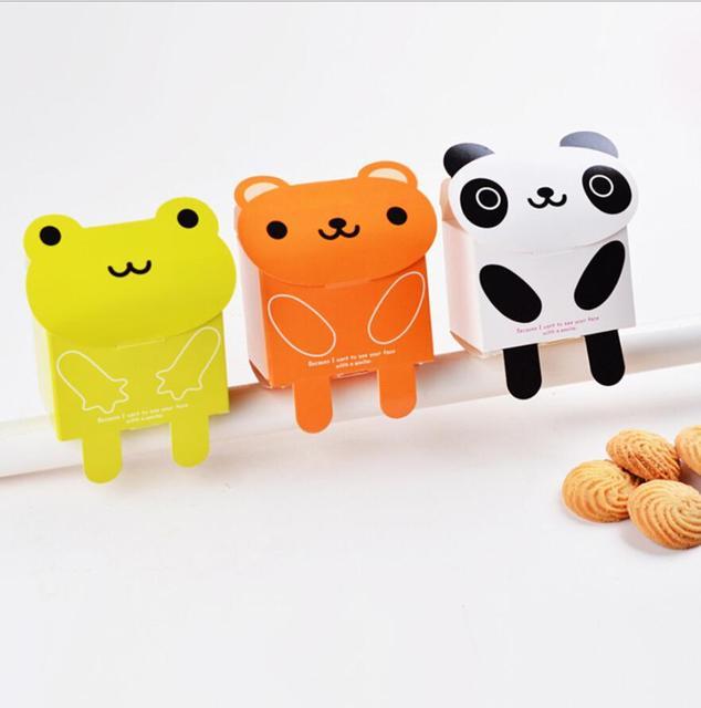 100pcs 10cmx6 5cmx11cm Cute Animal Panda Frog Shape Paper Favor Box Gift For Baby