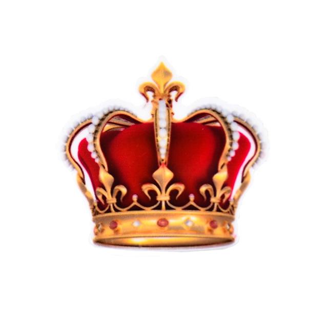 Decoden Dibujos Animados Rey Reina Corona Patrón Planar Resina
