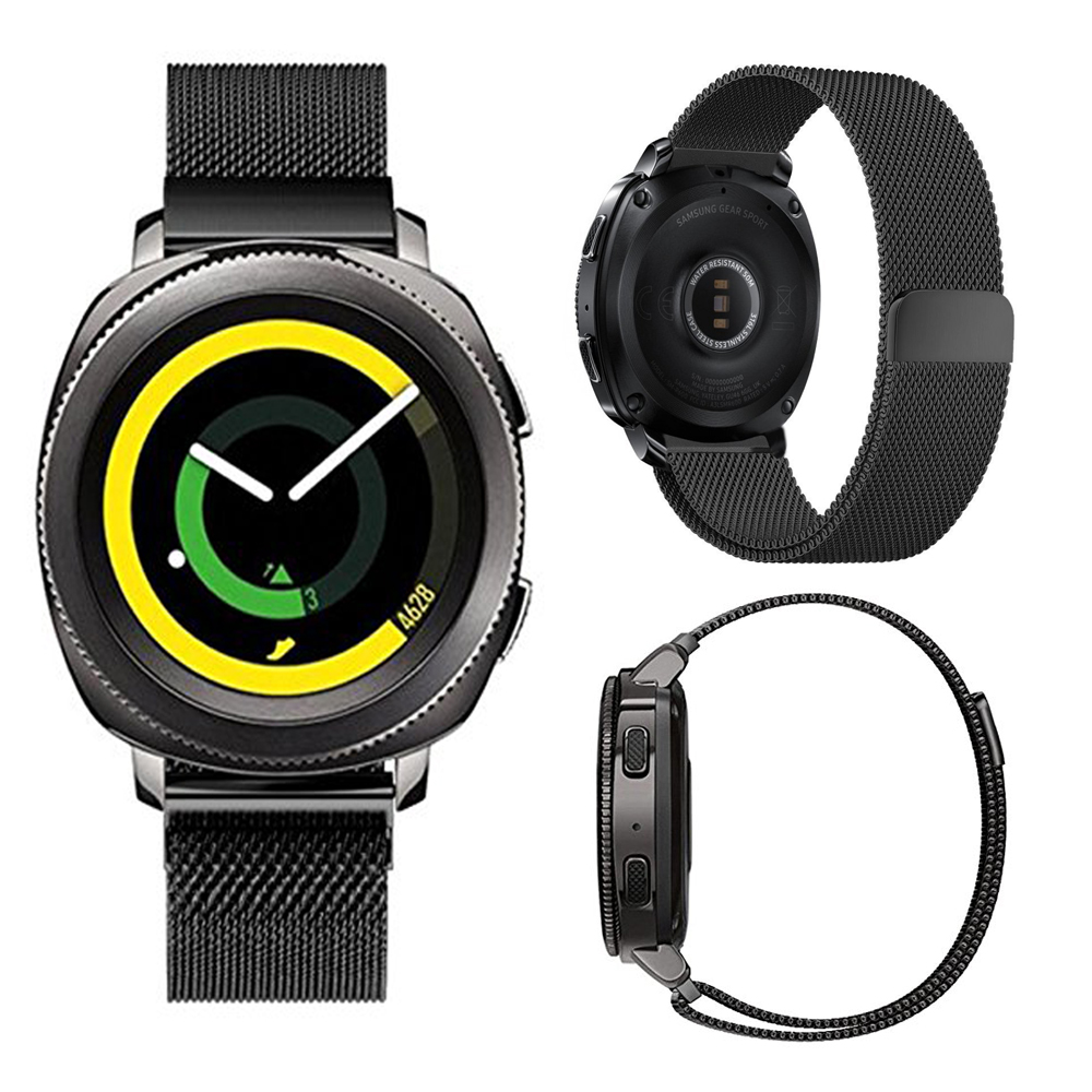 JANSIN 20mm universal Milanese Loop For Samsung Gear Sport/Gear s2/ xiaomi Huami Amazfit Bip Bit Band Stainless steel watch band