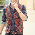 2016 new winter mens slim fit woolen suit vest classic gilet men red suit vest slim fit men cotton casual vest fashion waistcoat