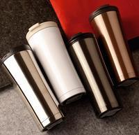 High Quality 500ml Double Wall Stainless Steel Coffee Mug Thermos Cup Coffee Tea Mug Milk Water