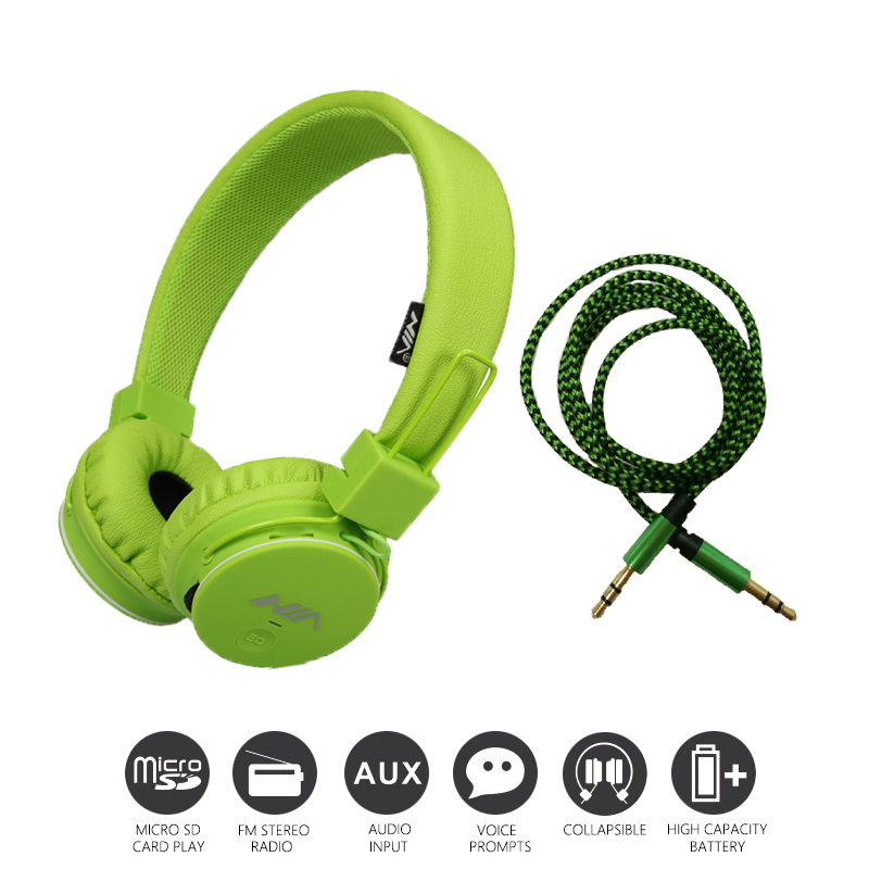 Economic Set: Original NIA 1682 + 8 GB AUX Cable a Set Multifunctional Headphone mp3 player with FM SD Card slot economic set original nia 8809s 8 gb micro sd card a set wireless headphone sport for tv with fm