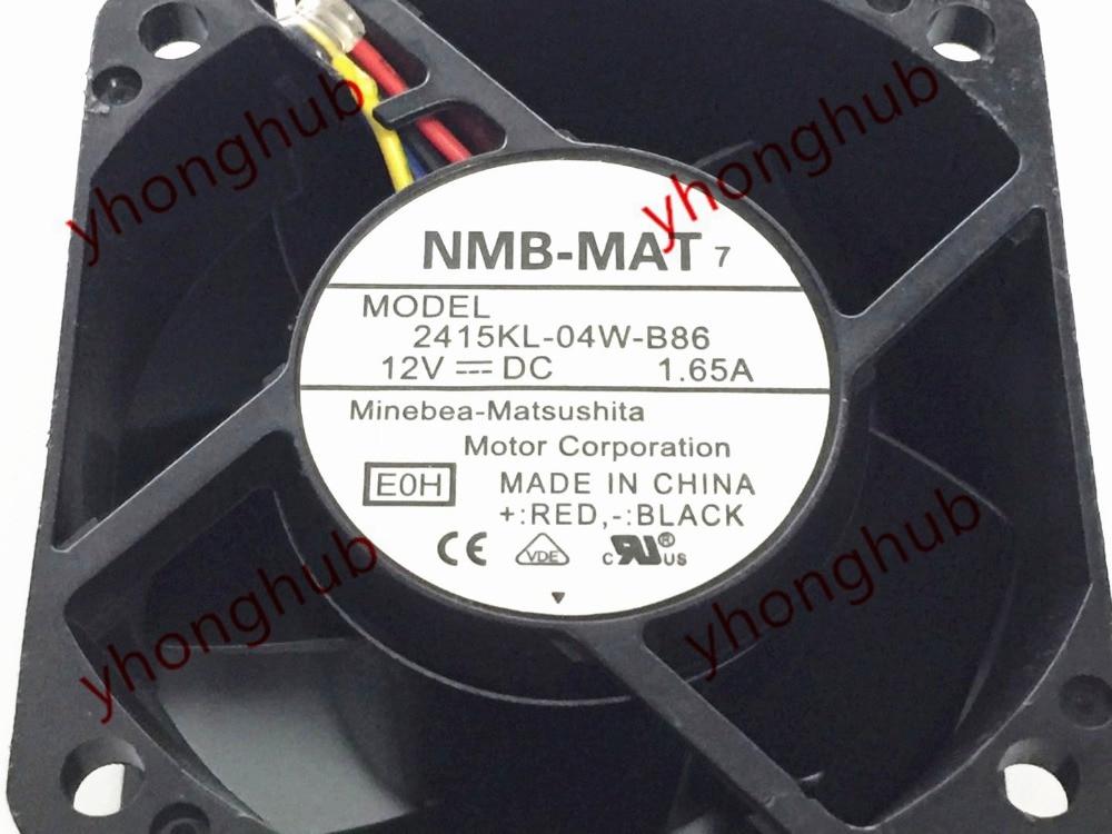12V NMB-MAT fan assembly model 2415KL-04W-B86 1.65A