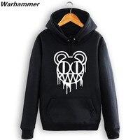 Radiohead męska bluza z kapturem bluza Zima Polar chłopcy Hiphop Punk Rock zagesccie płaszcze Z Kapturem Sportowa plus aksamitna bluza przytulne