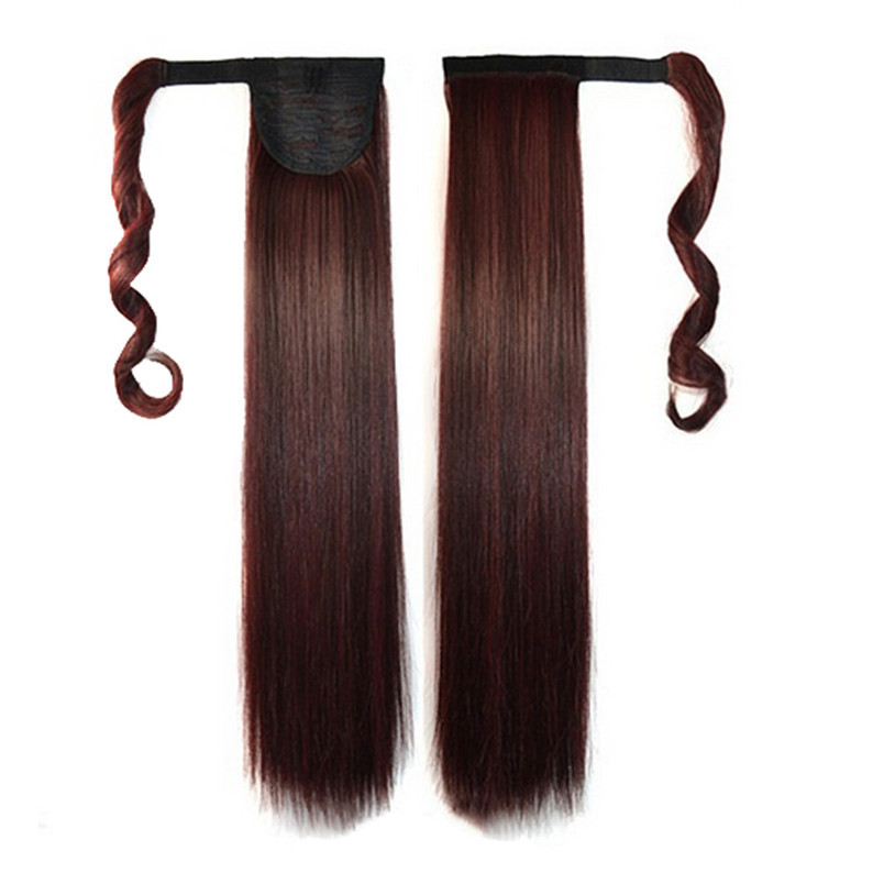 kai yunly 1PC New Fashion Real Clip In Human Hair Extension Straight Pony Tail Wrap Around Ponytail I Oct 26