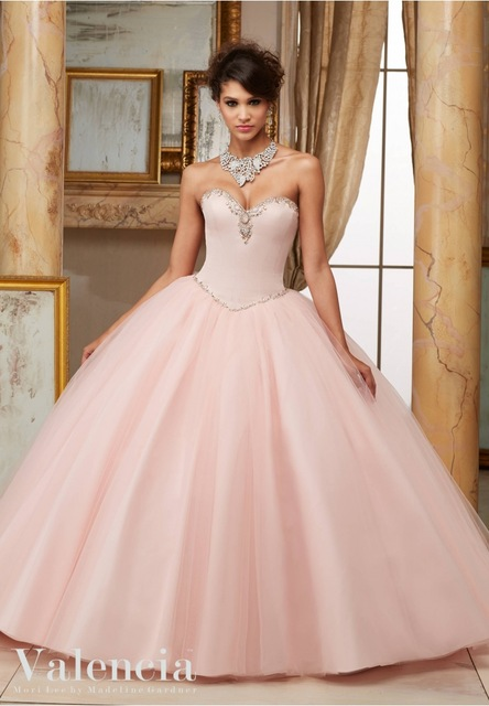 1503499d692 New Arrival Long Ball Gowns Beaded Quinceanera Dresses Simple Elegant  Sweetheart For 15 Years Vestidos De 15 Anos