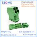 (4 pz) abs involucro strumento caso di colore verde elettronica custodia dello strumento scatola di distribuzione scatola guida din diy 110*100*46mm