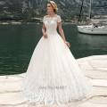 Trouwjurken Gothic Wedding Dress China Short Sleeve Wedding Gowns Lace Ball Gown Bride Dresses 2017 Vestido de Noiva de Tule