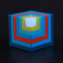 Wireless Bluetooth Speaker Funny Cubic LED Flashing Light Stereo Subwoofer With Mic